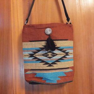 Krazy-Bear-Indian-Blanket-Purse-Rust