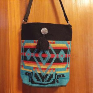 Krazy-Bear-Indian-Blanket-Purse-Turquoise-1